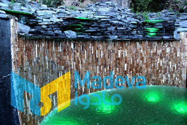 تخته سنگ طبیعی و چیدمان سنگ مالون