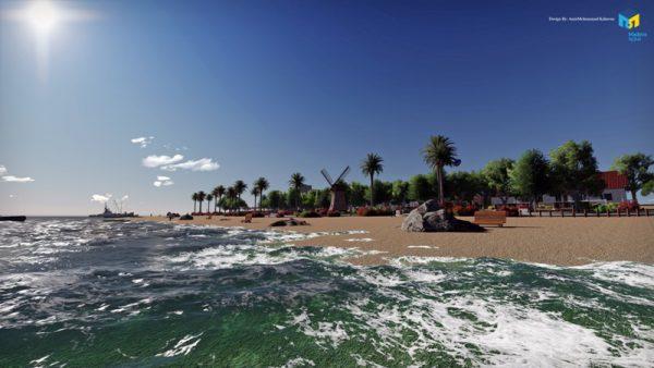 طرح اولیه بازسازی کناره ساحلی منطقه آزاد انزلی