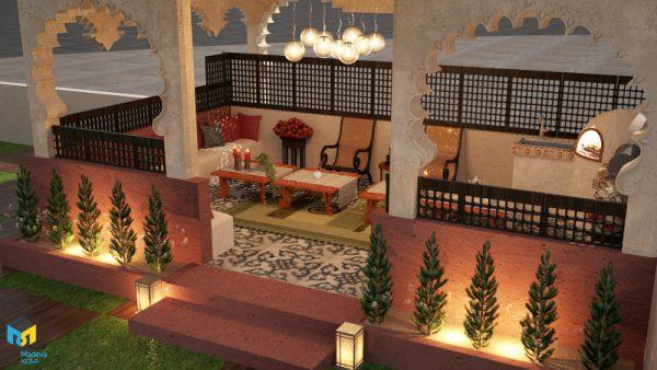 طراحی آلاچیق استایل مراکشی