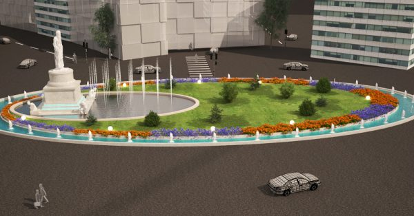 طراحی میدان رازی تهران